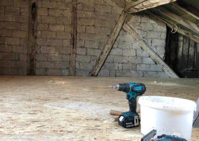 Sanierung Dachboden